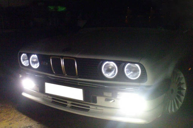 Светодидные led-кольца для BMW E30 комплект 4 шт. (ангельские глазки), фото 2