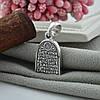 Серебряная иконка с чернением Богородица размер 26х13 мм вес 4.13 г, фото 2