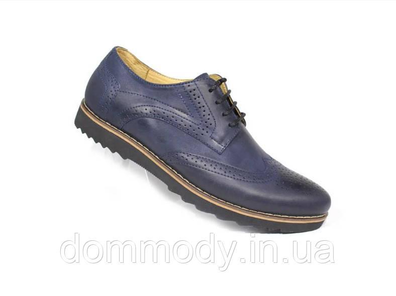 Туфли мужские из кожи Classic blu