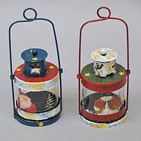 """Новогодний декор для интерьера """"Фонарь"""" NG557, 17*6 см,металл, стекло, Новогодние сувениры, Праздничный декор,"""