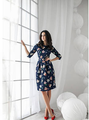 Платье длинною миди бантовыми складками, фото 2