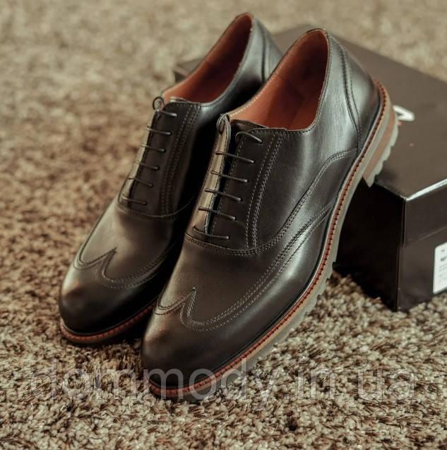 Туфли мужские из кожи Bruni