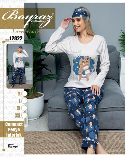 Пижама женская хлопок 12822 Boyraz