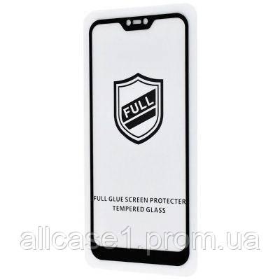 Захисне скло Full Glue HQ на Xiaomi Mi8 Lite (чорне)