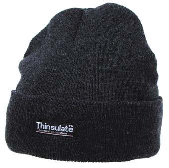Тёплая акриловая шапка Thinsulate MFH Steel 10983R