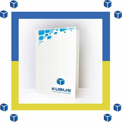 Изготовление фирменных папок с логотипом(1000 шт,оперативно,любые тиражи,300 г/м2), фото 2
