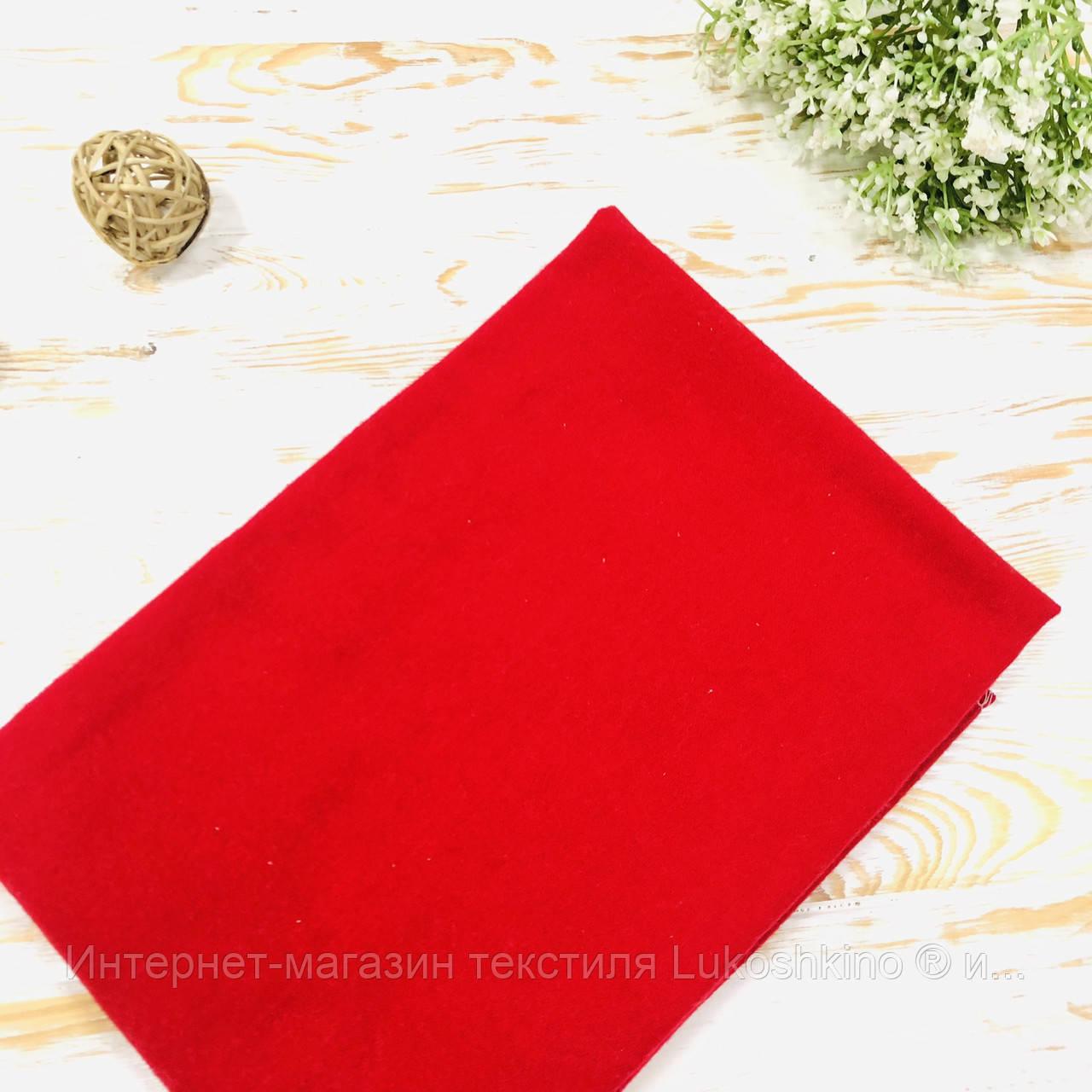 Пеленка детская фланелевая однотонная красная Lukoshkino ® Размер 80х100 см ФП-60