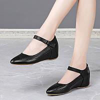 Новинка 2020 года, кожаная обувь для мам, удобная женская обувь на мягкой подошве, весенне-осенний наклон с Мэри Джейн, летняя обувь из воловьей кожи