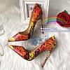Женские элегантные женские туфли на высоком каблуке-шпильке из лакированной кожи с острым ртом и узким вырезом из красной лаковой кожи с кленовым