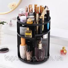 Органайзер для косметики вращающийся BEAUTY BOX для хранения косметики 360 Розовый Rotation Cosmetic Organizer