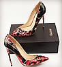 2018 сексуальные туфли на шпильках на высоком каблуке псевдо-девушки кросс-платье обратный компакт-диск сексуальные лакированные кожаные туфли на