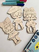 Детская раскраска куклы LOL Woody