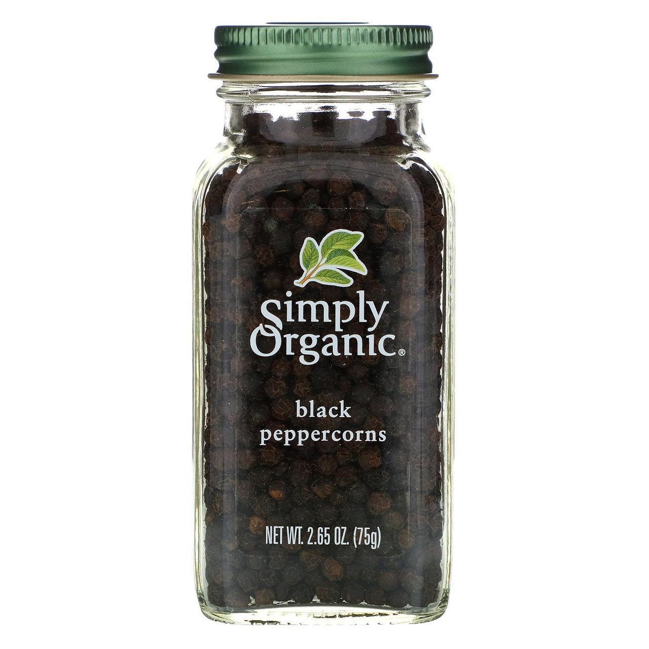 Черный перец горошек Simply Organic, 75 г