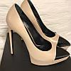 Кожаные непромокаемые свадебные туфли на платформе телесного цвета с острым носком на шпильке, подиумные туфли на очень высоком каблуке с мелким