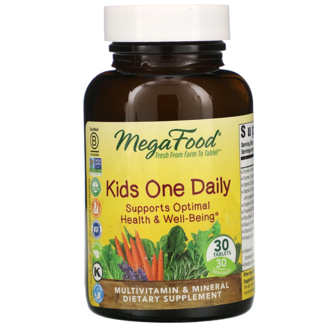 MegaFood, Детские витамины, 30 таблеток
