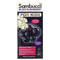 Sambucol, Черная бузина, Сироп для детей, с ягодным вкусом, 7.8 жидких унций (230 мл), фото 1