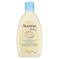 Aveeno, Детский шампунь и средство для мытья тела, с легким запахом, 12 жидких унций (354 мл)