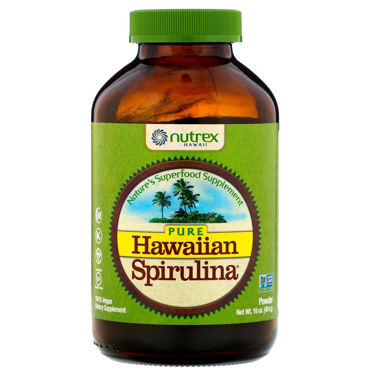 """Порошок """"Гавайская спирулина"""" от Nutrex Hawaii, 454 г"""