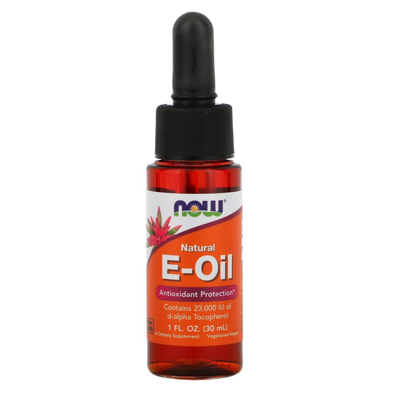 Натуральное E-масло от Now Foods, антиоксидантная защита, 30 мл