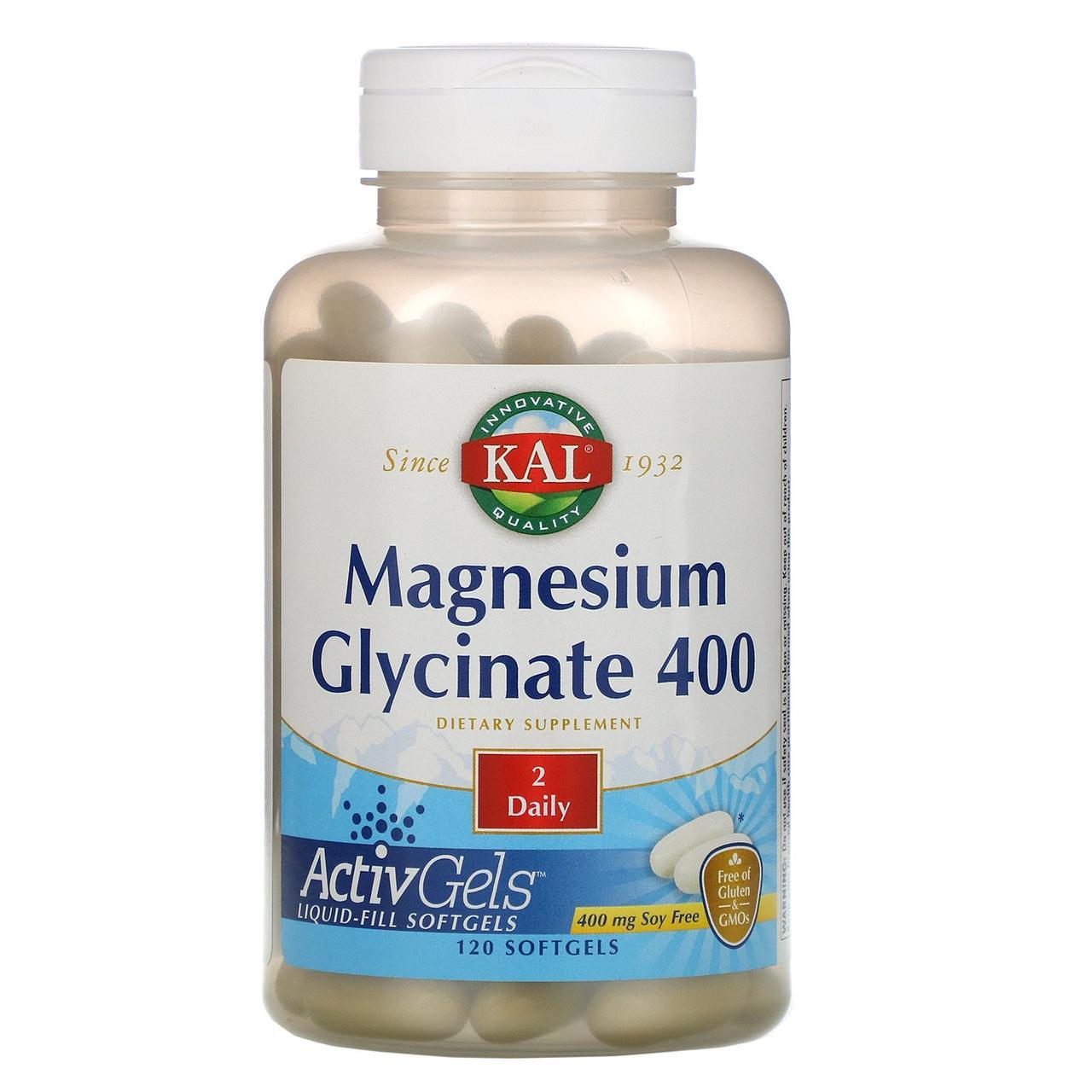Глицинат магния 400 KAL, 120 мягких таблеток