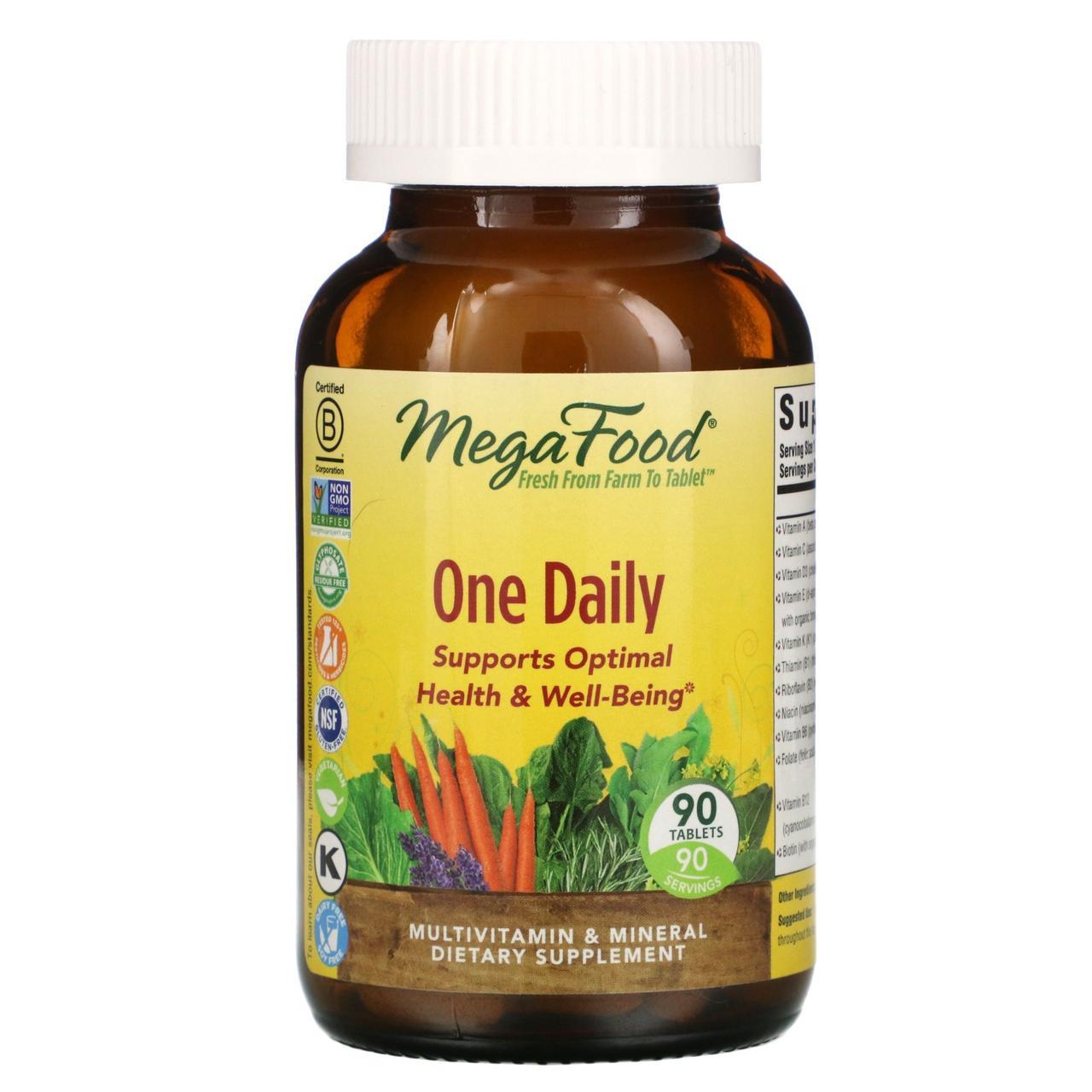 """Мультивитамины """"Раз в день"""" MegaFood, 90 таблеток"""