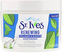 St. Ives, Обновляющий увлажняющий крем с коллагеном и эластином, 10 унц. (283 г)