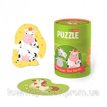 "Пазл и игра Mon Puzzle 2-3 элемента ""Кто живет на ферме"" 200107"