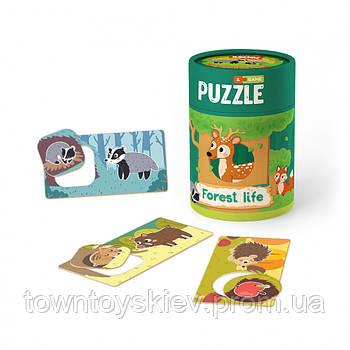 """Пазл и игра Mon Puzzle """"Зоология для Малышей. Жизнь в лесу"""" 200108"""