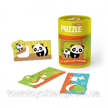 """Пазл и игра Mon Puzzle """"Зоология для Малышей. Хвостатые Друзья"""" 200109"""