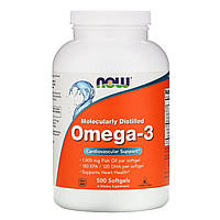 Омега-3 Now Foods, 180 ЭПК/120 ДГК, 500 мягких таблеток