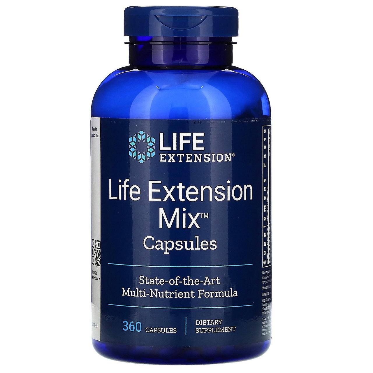 Комплекс витаминов, минералов и растительных экстарктов Life Extension, микс для продления жизни, 360 капсул