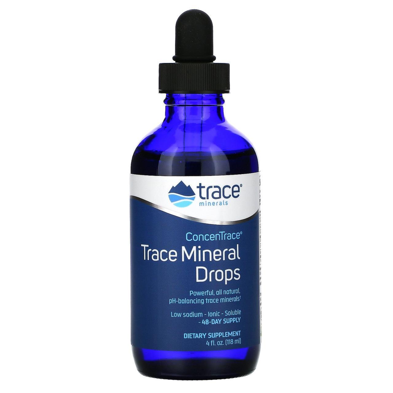 Минеральные капли с микроэлементами ConcenTrace от Trace Minerals Research, 118 мл