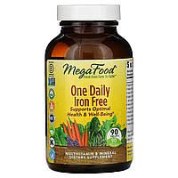Ежедневные мультивитамины и минералы без железа от MegaFood, 90 таблеток, фото 1