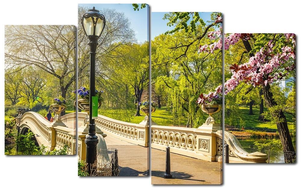 Модульная картина Центральный парк 114*69 см Код:W4597