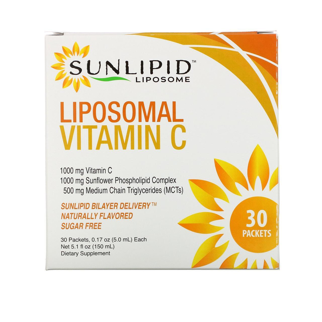 Липосомальный витамин С SunLipid, 30 пакетиков (5 мл каждый)