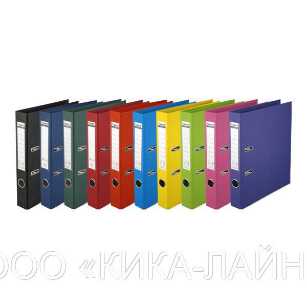 Папка-регистратор с покрытием PVC 50 мм А4 темно-синяя IND 5/50 PP DB