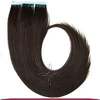 Натуральные Славянские Волосы на Лентах 50 см 100 грамм, Шоколад №1С