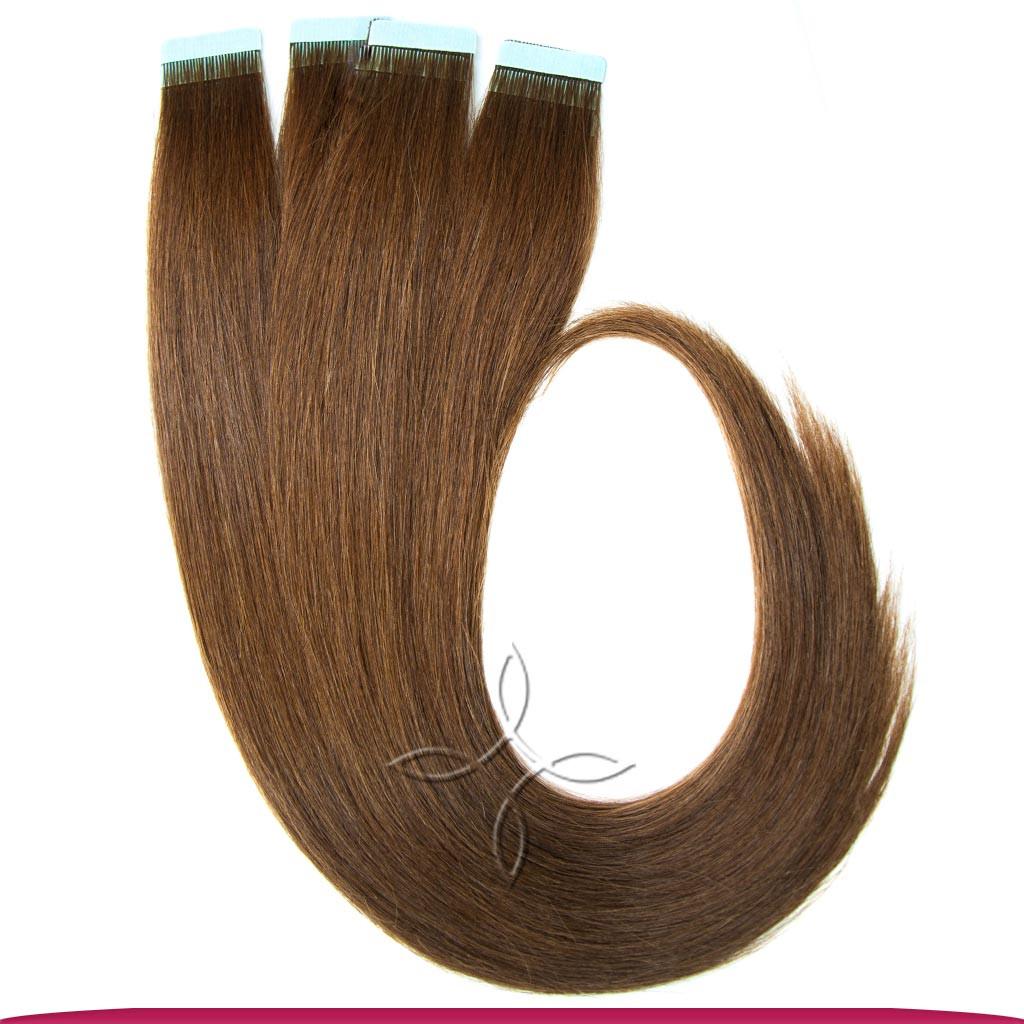 Натуральные Славянские Волосы на Лентах 50 см 100 грамм, Шоколад №04