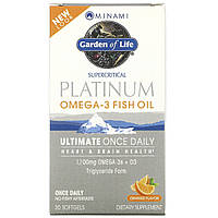 Пищевая добавка MorEPA Platinum, с Омега-3 и витамином D3, со вкусом апельсина, 30 гелевых капсул, фото 1