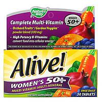 Полный комплекс мультивитаминов для женщин от 50 лет Nature's Way, Живой! 50 таблеток