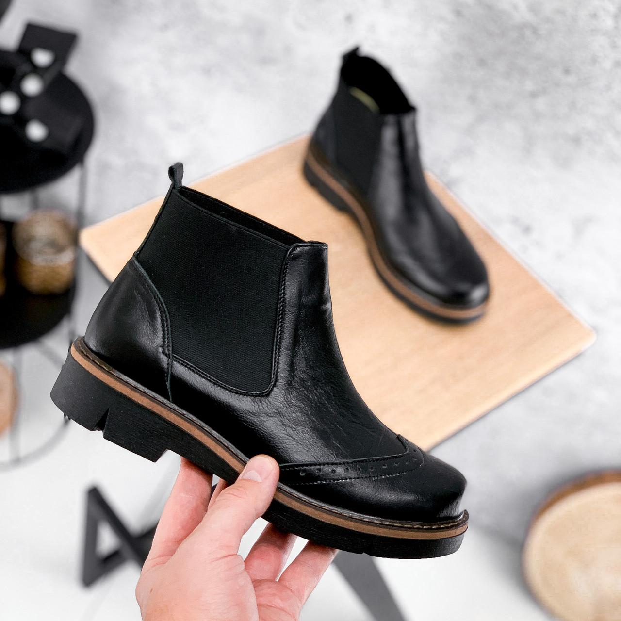 Ботинки женские Malory черные ЗИМА 2384