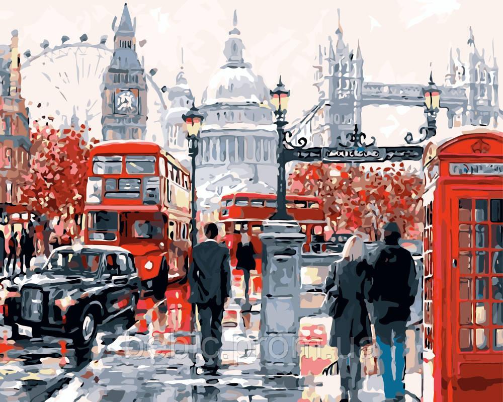 """Картина по номерам """" Очарование Лондона """" 40*50 см"""