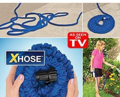 Садовый шланг для полива XHOSE 7,5м с распылителем
