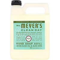 Жидкое мыло для рук Mrs. Meyers Clean Day, базилик, 975 мл