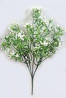 """Зеленый с белым куст""""снежноягодника"""" 32см искусственная зелень с мелкими ягодами, фото 1"""