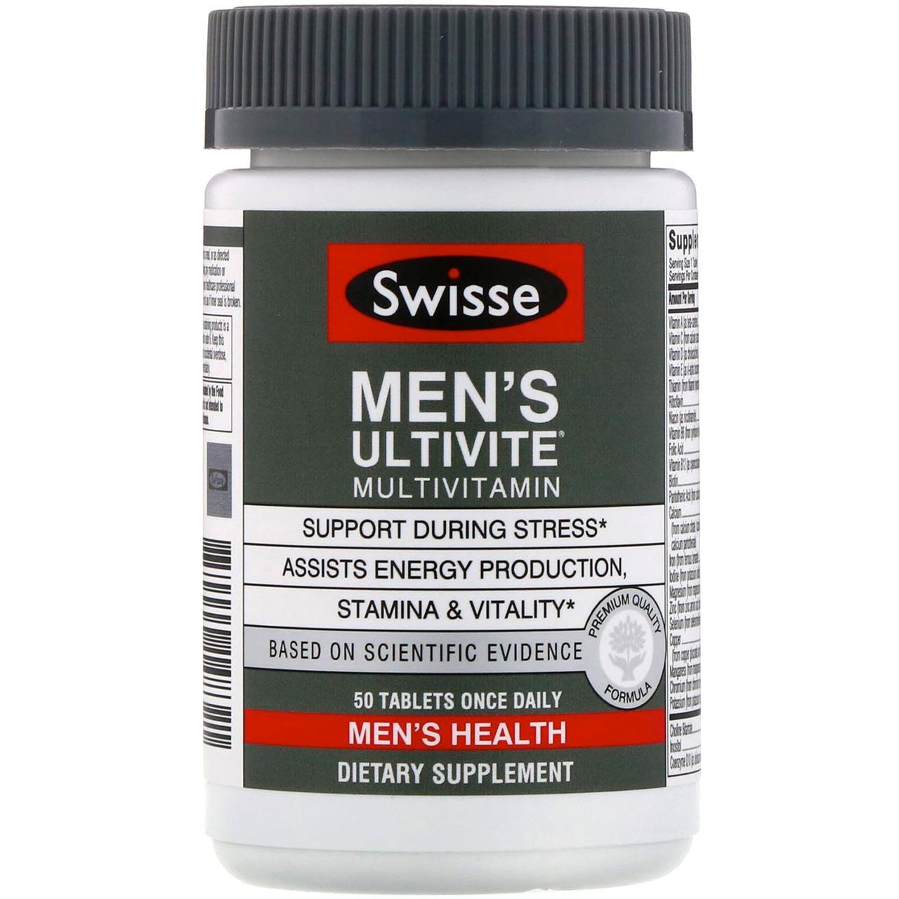 """Мужские мультивитамины """"Men's Ultivite"""" от Swisse, 50 таблеток"""