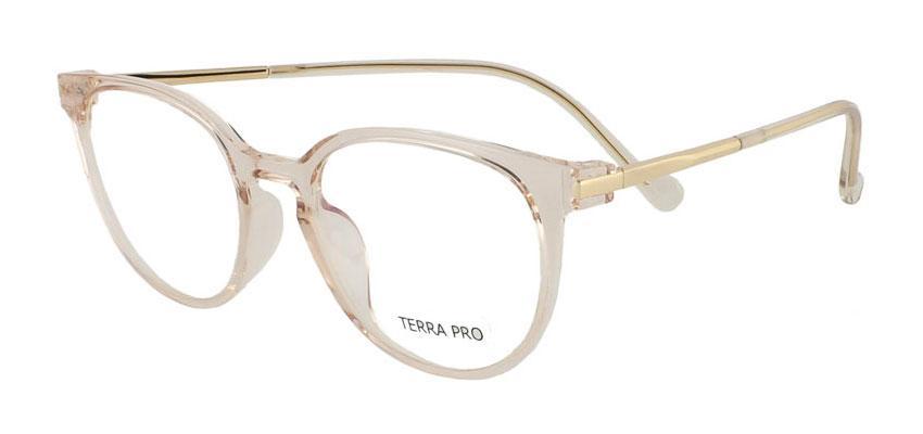 Оправа роскошная пластиковая женская для очков, розово-золотая, Terra pro