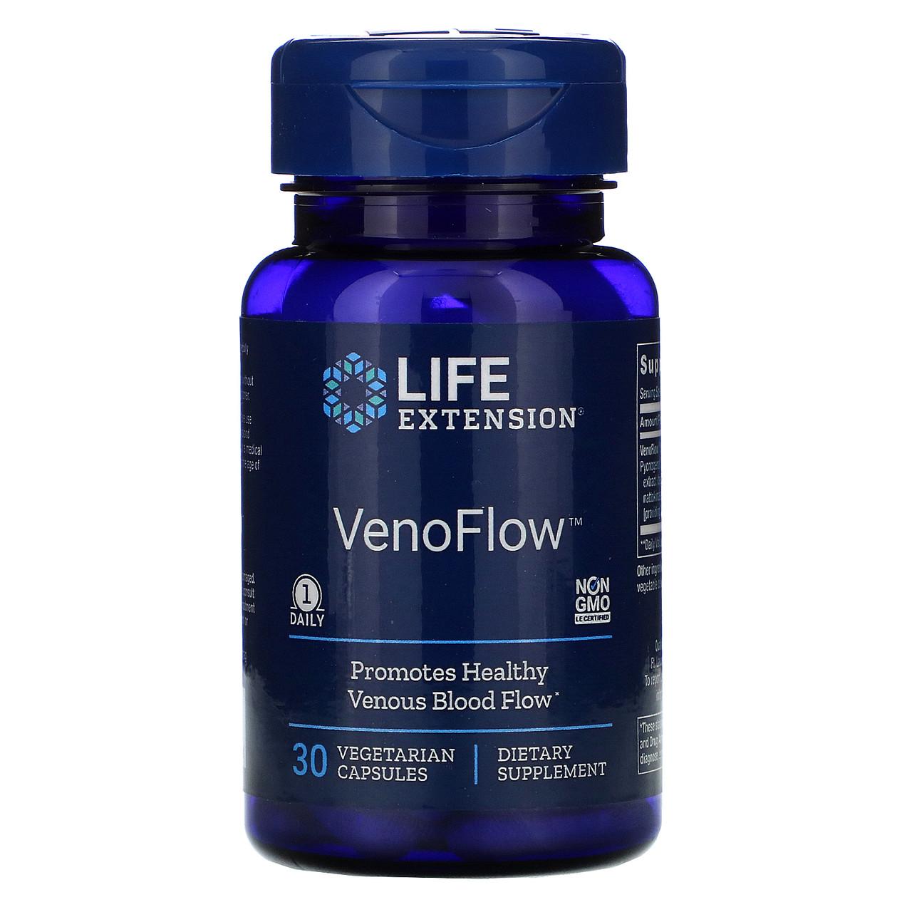 ВеноТок, комплекс для улучшения циркуляции крови по венам Life Extension, 30 Растительных капсул