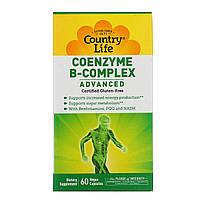 Коэнзим комплекс витаминов группы B Country Life, улучшенная формула, 60 растительных капсул, фото 1
