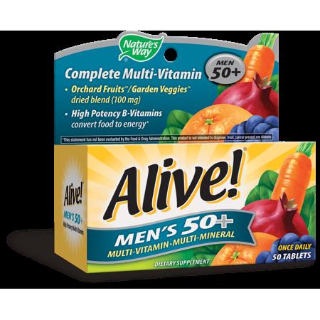 Nature's Way Alive!® Men's 50+ Мультивитамины + минералы+ экстракты для мужчин от 50 лет  50 таблеток